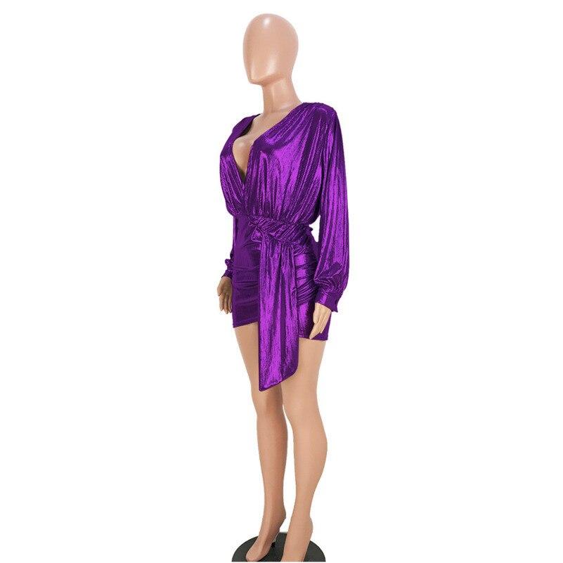 MUXU blue sexy vestido long sleeve kleider fashion sukienka short dress clothes party dress plus size streetwear frocks jurken in Dresses from Women 39 s Clothing