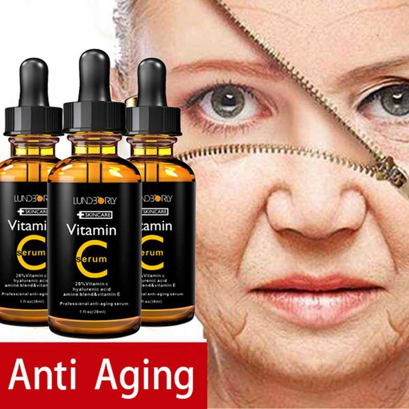 30ml Facial Serum Vitamin C vitamin E essence Organic Moisturizing Essence Skin Care anti-Wrinkle Lifting Tight Whitening