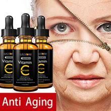 цена 30ml Facial Serum Vitamin C vitamin E essence Organic Moisturizing Essence Skin Care anti-Wrinkle Lifting Tight Whitening Skin онлайн в 2017 году