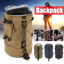 e3750fcf60 New Mens Vintage Novelty Brown Canvas Duffel Backpack Camping Gym Shoulder  Bag Luggage Hand Bag Sports Bag