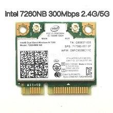 Drahtlose Wifi Karte Dual Band Intel 7260 NB 7260HMW Mini PCI E 300 Mbps 802.11N 2,4G/5 Ghz für laptops 7260NB