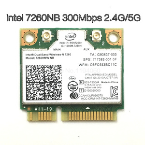 Image 1 - Senza fili Wifi Card Dual Band Intel 7260 NB 7260HMW Mini PCI E 300 Mbps 802.11N 2.4G/5 Ghz per computer portatili 7260NB