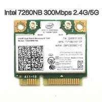 Senza fili Wifi Card Dual Band Intel 7260 NB 7260HMW Mini PCI-E 300 Mbps 802.11N 2.4G/5 Ghz per computer portatili 7260NB
