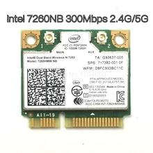 Беспроводная Двухдиапазонная Wi Fi карта Intel 7260 NB 7260HMW Mini PCI E 300 Мбит/с 802.11N 2,4G/5 ГГц для ноутбуков 7260NB