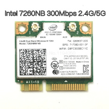 Wireless Wifi Card Dual Band Intel 7260 NB 7260HMW Mini PCI E 300Mbps 802.11N 2.4G / 5Ghz for Laptops 7260NB