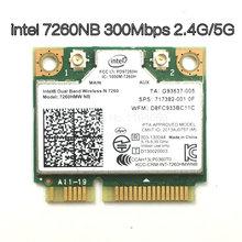 Placa de vídeo sem fio intel, sem fio wi-fi banda dupla intel 7260 nb 7260hmw mini pci-e 300mbps 802.11n 2.4g/5ghz para laptops 6072nb