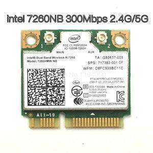 Image 1 - Wireless Wifi Card Dual Band Intel 7260 NB 7260HMW Mini PCI E 300Mbps 802.11N 2.4G / 5Ghz for Laptops 7260NB