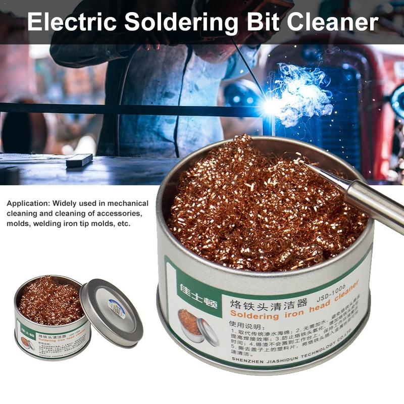 Electric Soldering Bit Cleaner Desoldering Tin Wire Mesh Filter For Machine Parts Molds Welding Iron Tips Cleaning BallElectric Soldering Bit Cleaner Desoldering Tin Wire Mesh Filter For Machine Parts Molds Welding Iron Tips Cleaning Ball