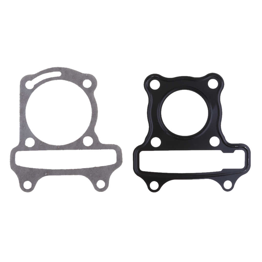 39/44/47/50/52.4/57.4/61mm Big Bore Cylinder Base + Head Gaskets for GY6 50 60 80 90 125 150 180cc Scooter Good Replacement