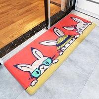 Thicken Anti skid Carpet Floor Mat Living Room Bedroom Mats Dining Room Carpet with Cartoon Cute Rabbit Home Decor