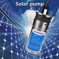 12 v/24 v grand débit ascenseur = 70 m Mini pompe à eau solaire Submersible lavage de voiture cale nettoyage jardin extérieur puits profond 12 24 V