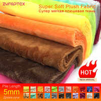 ZYFMPTEX 2019 New Arrival 5mm Pile Minky Plush Fabric For DIY Sewing Patchwork 45x50cm 100% Polyester Telas Velvet Fabric