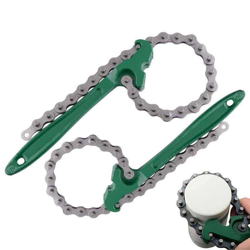 Oil Chain Wrench Grid Filter Chain Spanner Wrench 8/12 Inch Oil Fuel Filter Wrench Removal Tool Remover Auto Maintaince Tool