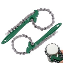 Oil Chain Wrench Grid Filter Chain Spanner Wrench 8/12 Inch Oil Fuel Filter Wrench Removal Tool Remover Auto Maintaince Tool free ship 8belt machine oil filter wrench belt type wrench oil filter remover carbon steel strap spanner adjustable grid wrench
