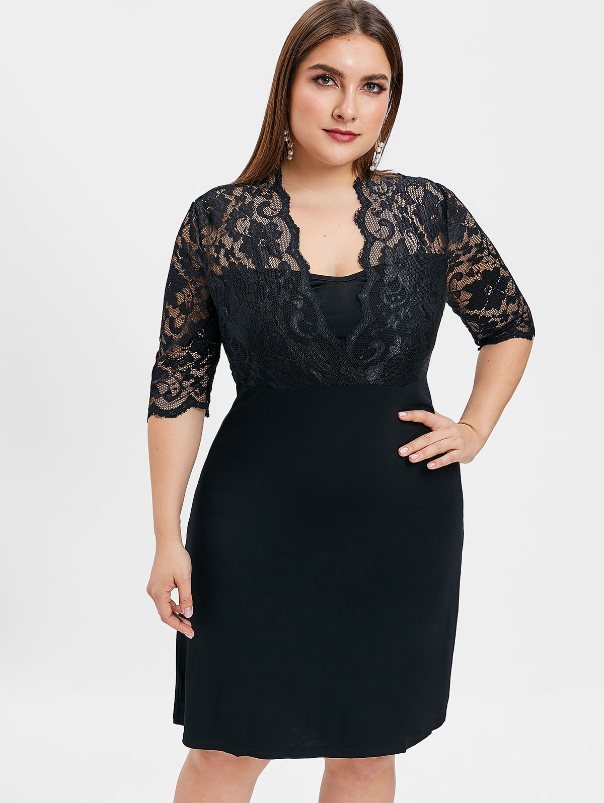 dcc6ed052b9d1 Wipalo 2018 Autumn Plus Size Embroidery Bodycon Mermaid Party Dress ...
