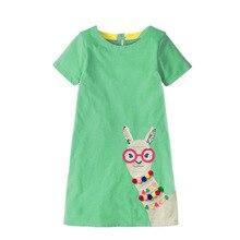 2019 Summer girl dresses in kids cotton animal print dress kids pincess dresses for girls vestidos toddler girl clothes 2-5-7T