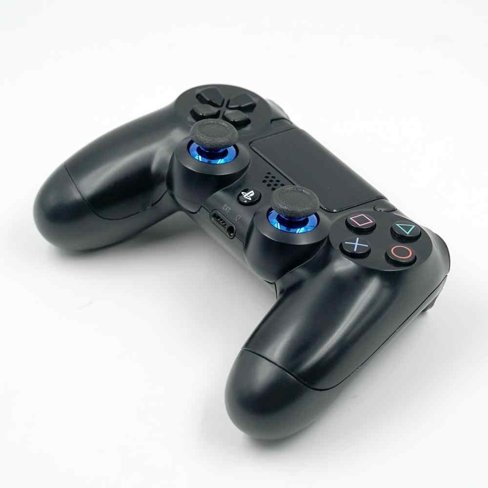 2 Pcs Chrome Berlapis Analog Thumbsticks dengan Anti-Selip Cap untuk PS4 Controller untuk Sony PlayStation 4