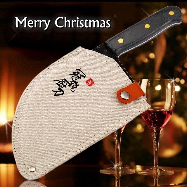 Couperet chinois couteaux de cuisine faits à la main, outils de cuisine de Chef, cadeau de noël tranchage de légumes et viande BBQ Camping en plein air