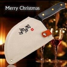 Cuchillos de cocina chinos hechos a mano, utensilios de cocina para Chef, regalo de Navidad, verduras, carne, rebanador, Camping, barbacoa, Camping al aire libre