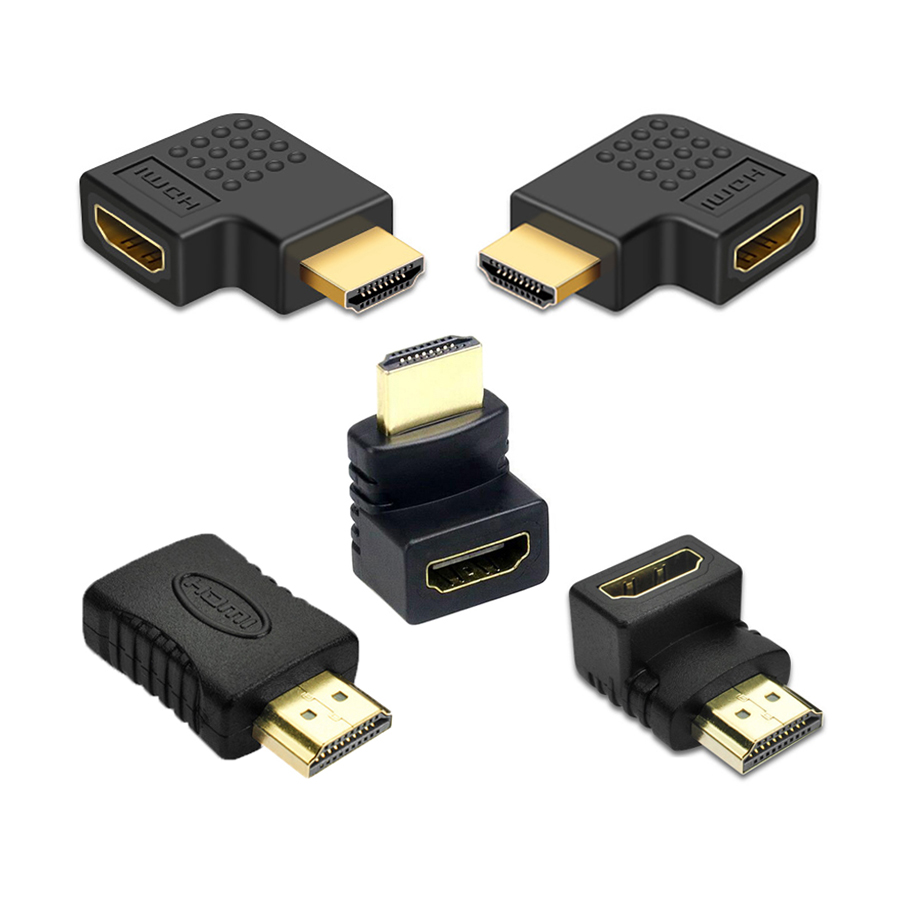 HDMI Cable Connector Adapter 270 180 90 Degree Angle HDMI Male To HDMI Female Converters For 1080P HDTV Cable Adaptor Extender