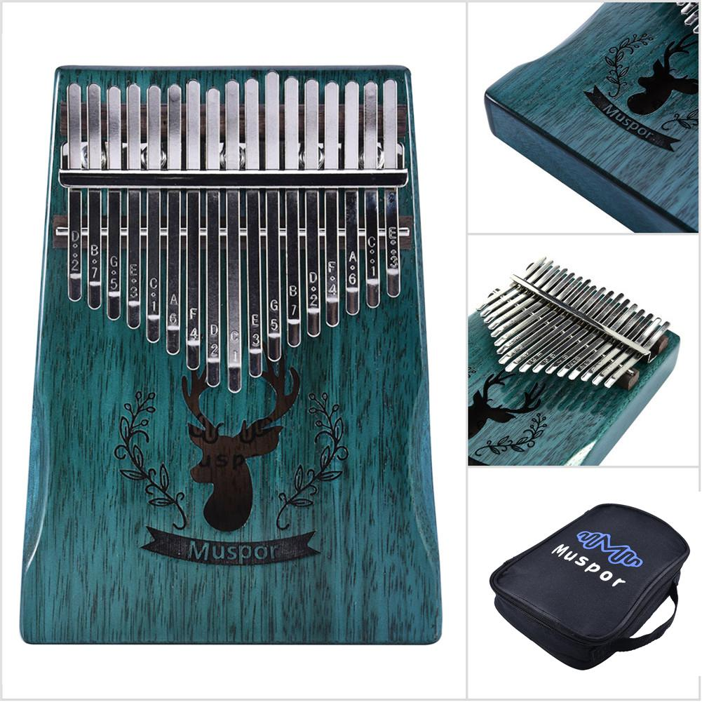 17 Keys Kalimba Thumb Piano Finger Kalimba Paino Wood Mahogany Body Musical Instrument With Learning Book Tune Hammer Xmas Gifts
