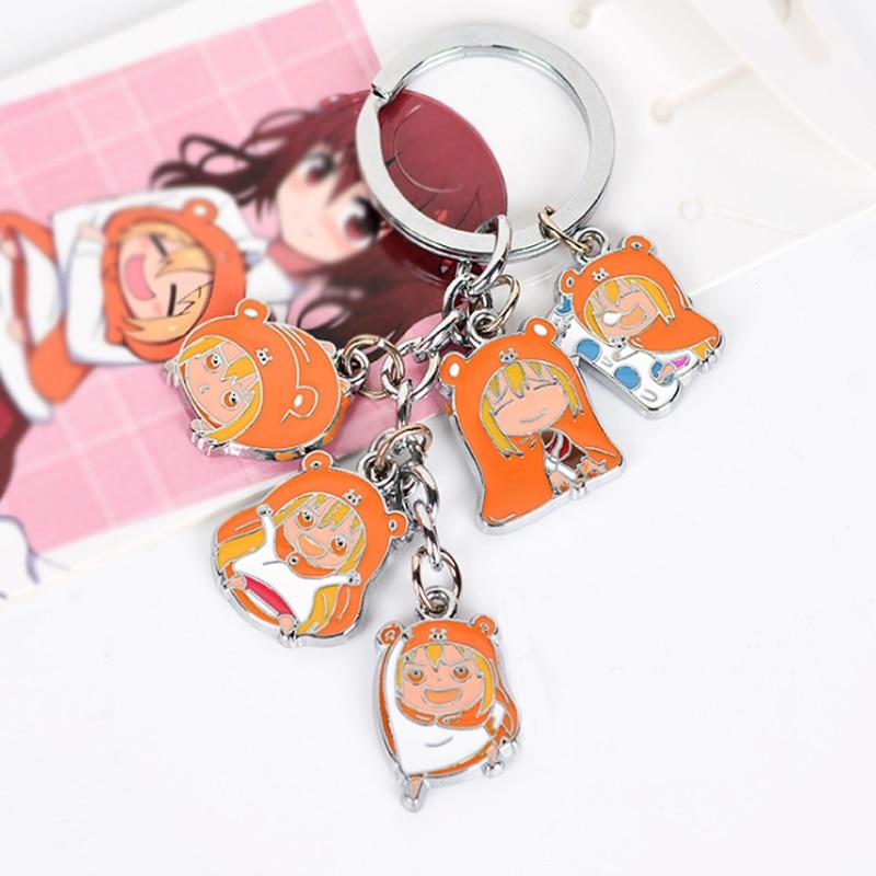1 pcs Cute Himouto Umaru-chan Keychains Doma Umaru Metal Figures Pendants Key Chains For Men Women toy jewelry accessories
