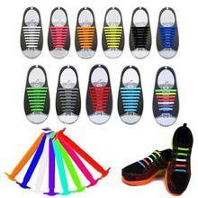 Одна пара креативных силиконовых шнурков без завязок, модные трендовые шнурки, эластичные шнурки для обуви, силиконовые шнурки для тренировок