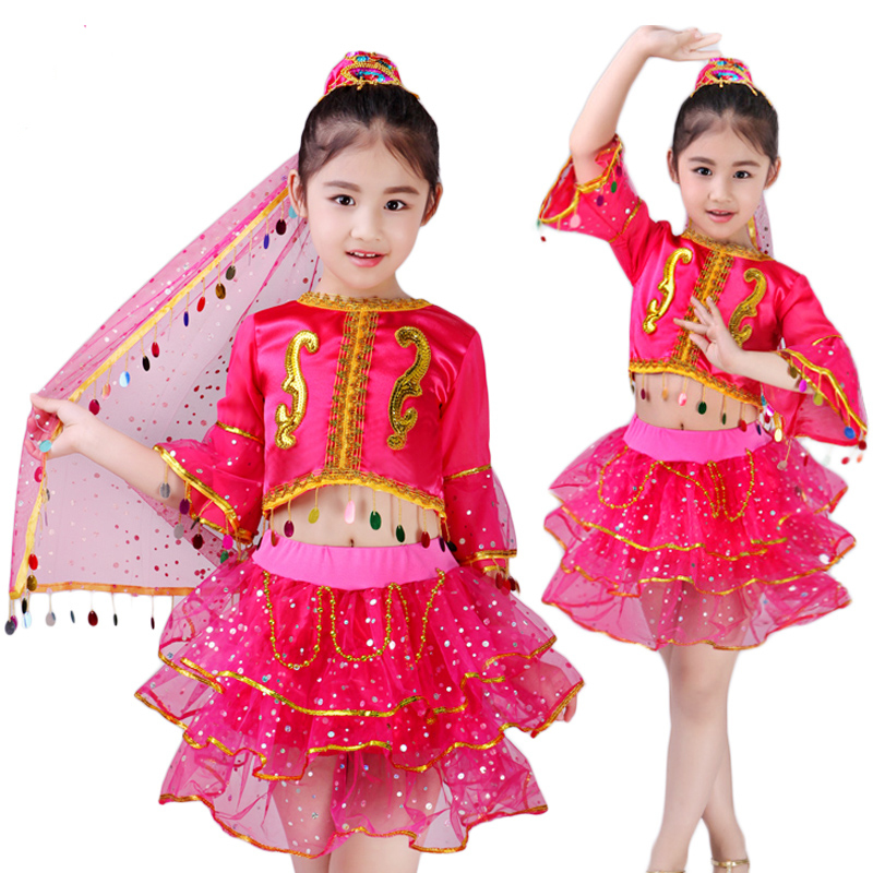 Children 39 s National Dance Dresses Children 39 s Belly Dance Girls Performing Children 39 s Dance Dresses in Chinese Folk Dance from Novelty amp Special Use