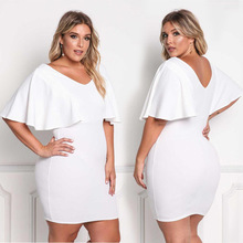 MUXU fashion sexy backless white dress vestidos clothes womens clothing pencil plus size big XL-4XL knitted  casual
