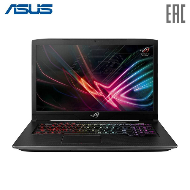 "Ноутбук ASUS ROG GL703GE Intel i5 8300H/16Gb/1Tb/No ODD/17.3"" FHD IPS Anti-Glare/NVIDIA GeForce GTX 1050 Ti 4Gb GDDR5/Camera/Wi-Fi/No OS Black (90NR00D2-M04490)"