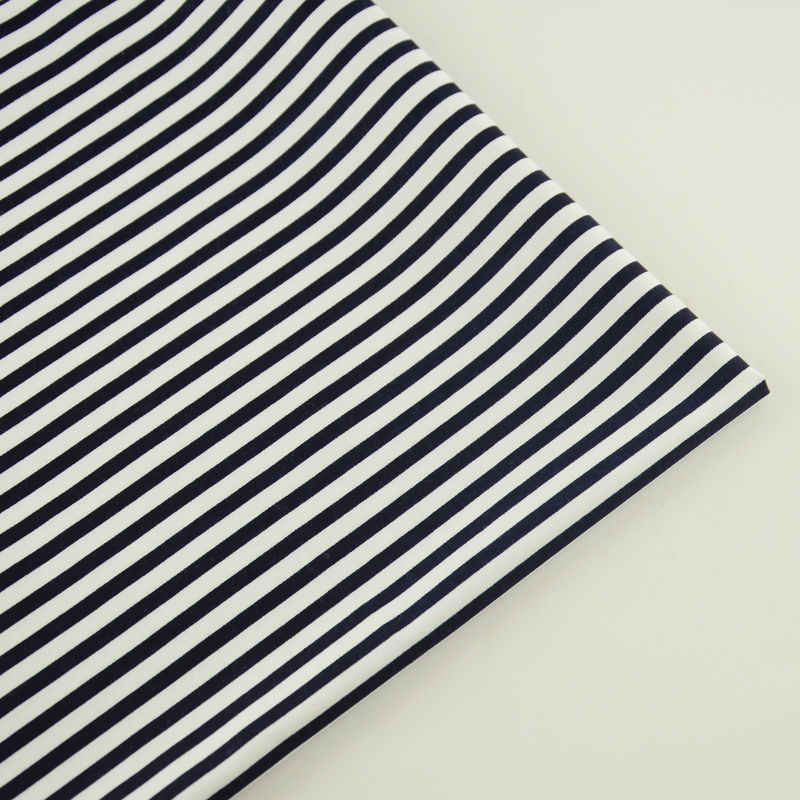 Black and White Stripes Design Cotton Fabrics Quilting DIY Doll's Sewing Cloth Teramila Dress Bedding Tecido Telas Scrapbooking