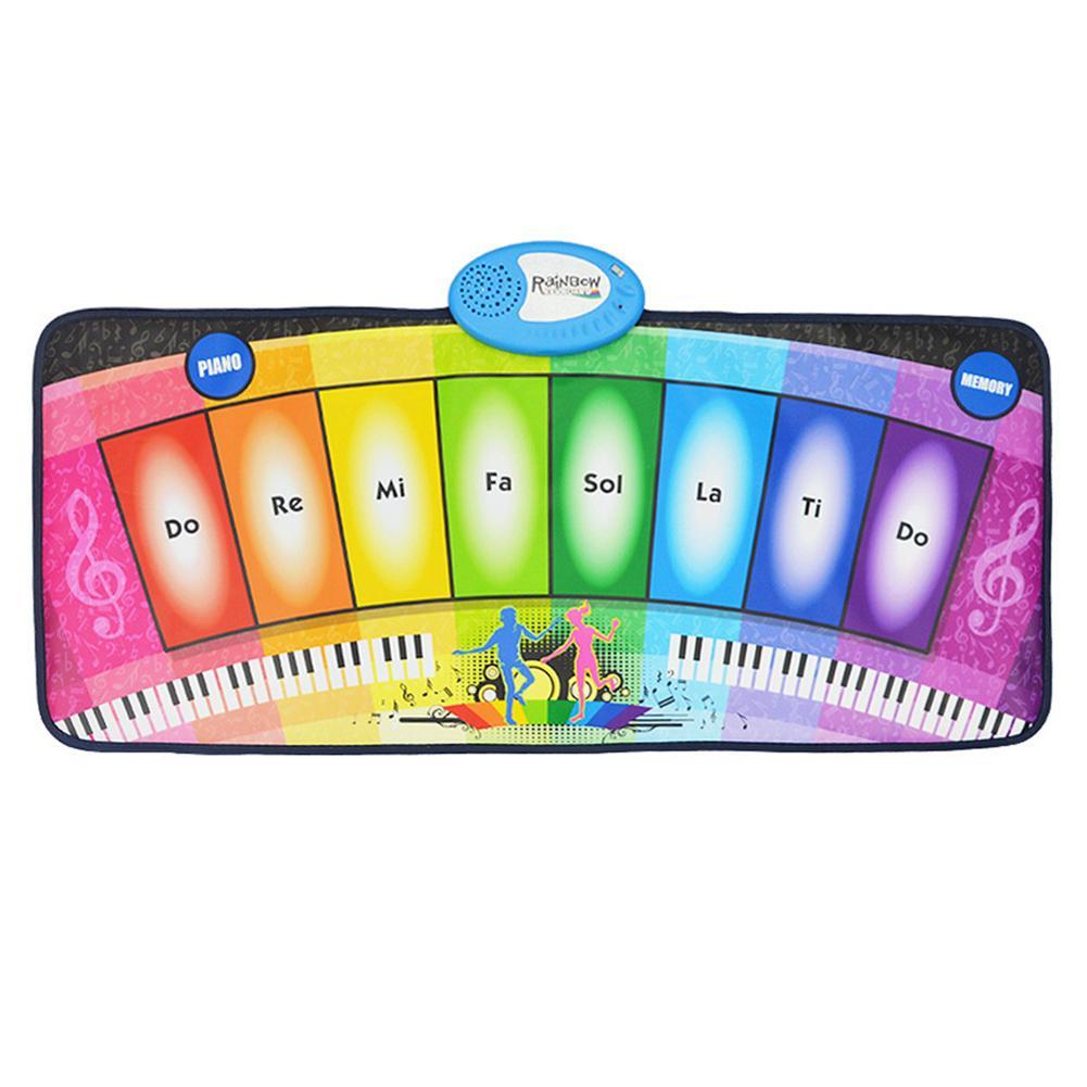 Tapis de jeu multifonctionnel brillant de Piano d'arc-en-ciel de couverture de danse de musique des enfants - 3
