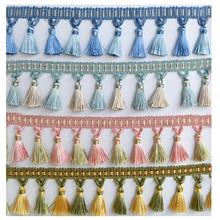 YY-tesco, 12 ярдов, Ширина 7,5 см, занавеска, кружевная бахрома, отделка с кисточками, для самостоятельной сборки одежды, юбки, домашние текстильные украшения, кружевная лента
