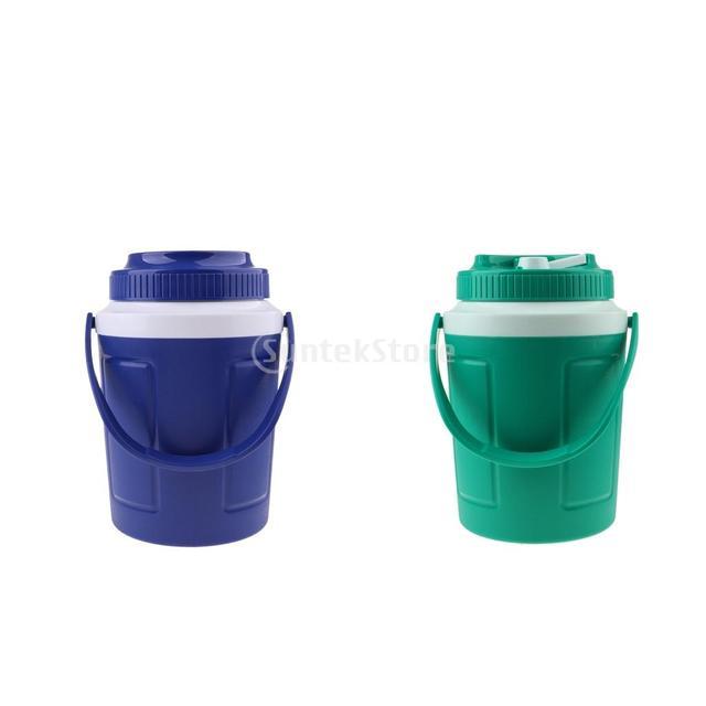 Durable Ice Cube Cooler Red Wine Ice Bucket Beer Drinks Milk Cooler Round Bucket Cooler Outdoors