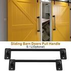 2 Sizes Door Handle Simple Design Pull Handle door Barn Metal Sliding Barn Gates Garages Sheds Door hardware set Blick Hot Sale
