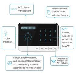 جهاز تحكم 9 منطقة واي فاي جهاز توقيت الري جهاز تحكم الإلكترونية حديقة ساحة التلقائي سقي أداة