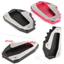 Motorcycle Side Kickstand Stand Extension Plate Pad For Ducati Monster 696 08-14 & 796 10-15 & 797 17-18 & 821 1200 1200S 14-17 цена