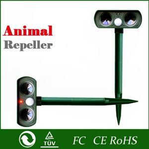 Image 2 - Répulsif solaire ultrasonique, 2 pièces, répulsif pour animaux de plein air, répulsif pour chien/chat/oiseau/taupe, PIR, renards, fournitures de jardin
