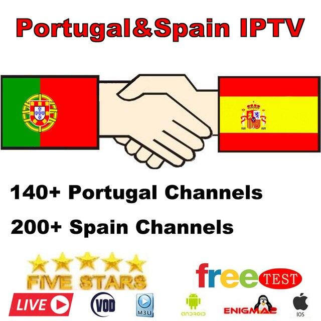 Mejor estable IPTV España Live IPTV Portugal Francia Alemania 1 año IPTV M3U suscripción gratis VOD para Enigma2 Android Box smart TV