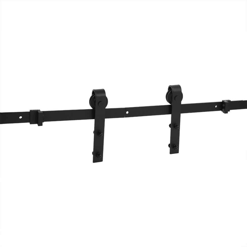 Раздвижная обшивочная дверь деревянная дверная фурнитура комплект Сталь направляющих антикварной Track Системы Черный Новый 2019