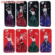 Luxury Glitter Diamond Case For iPhone XS MAX XR X 7 8 Plus 6 6S 5S 5 SE Wedding  Dress Girl Cover For iPhone 6 6S Plus Coque ae02ed018bbb