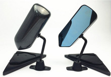 лучшая цена For 95-99 Eclipse F1 Style Manual Adjustable Carbon fiber look Painted Side View Mirror