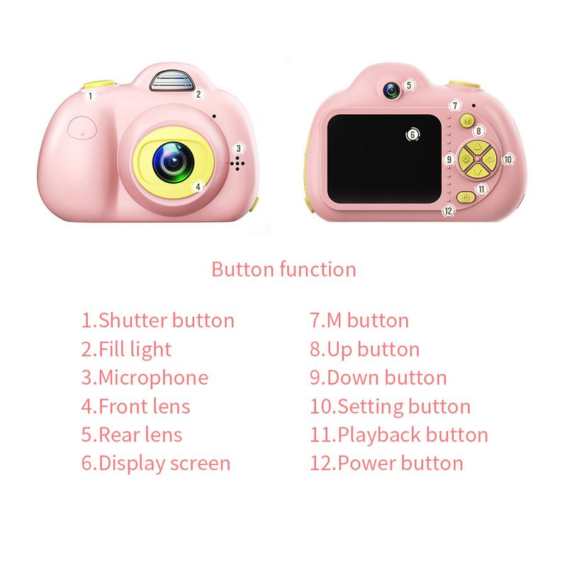 Enfants mignon Animal jouet caméra Mini appareil photo numérique petit reflex Double-lentille sport jouet caméra pour enfants - 5