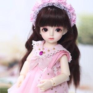 Image 3 - Имбирные куклы Miadoll BJD SD, модель тела 1/6, полный комплект с волосами, одежда, обувь, аксессуары, шарнирная кукла
