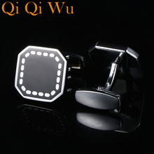 New French Shirt Cufflinks Wedding Black Cufflink for Men's Gifts Unique cuff links For Man Business Gift Suit Sleeve Buttons vintage sell high buy now stock market cufflinks for men shirt cuff buttons business sleeve nail steel brothers gift for friend