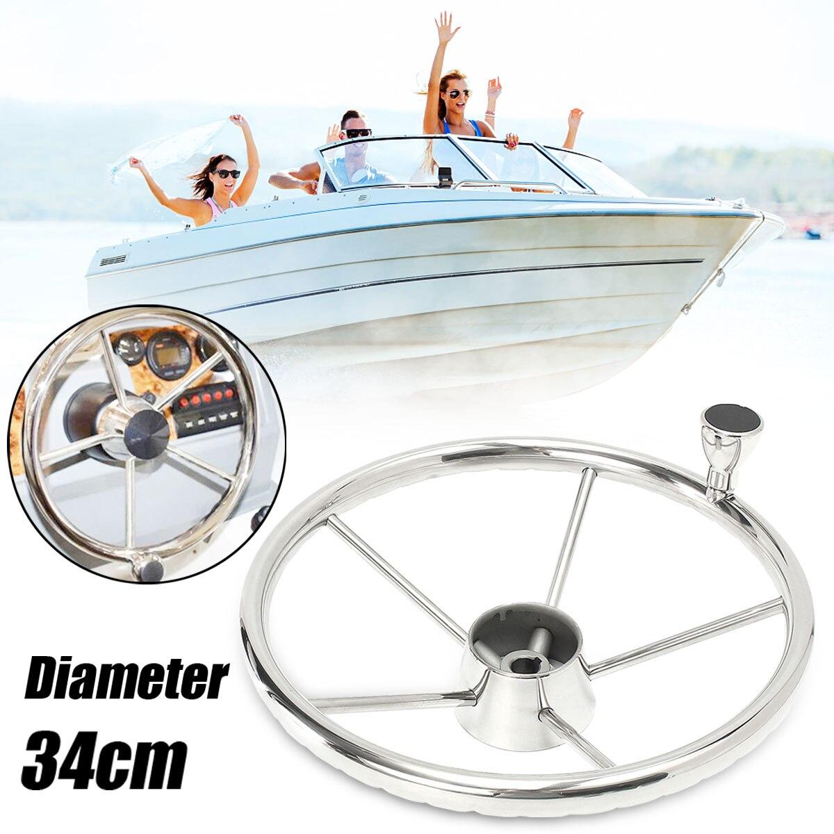 13.5 pouces bateau volant 316 en acier inoxydable 25 degrés Marine Yacht avec bouton pratique matériel marin facile à installer