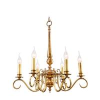 Gold Banquet hall art deco Chandelier for dining Room Copper Kitchen Lighting Pastoral Bedroom American vintage LED Chandeliers