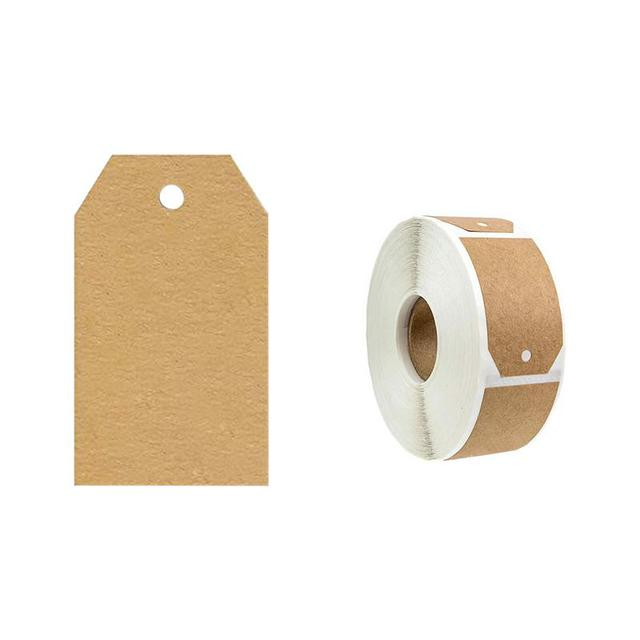 Brown Kraft Stickers 300 Labels Per Roll Handmade DIY Holiday Baking Cake Biscuit Gift Box Adhesive Decoration Stationery
