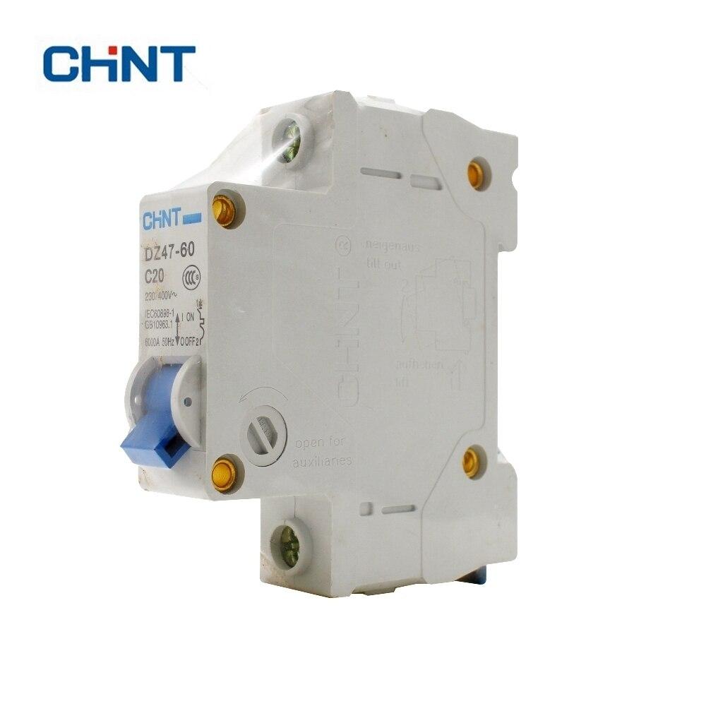 DZ47-60 C20 AC230//400V 1P 20A Rated Current 1 Pole Miniature Circuit Breaker