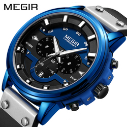 Relogio Masculino MEGIR Watch Men Sport Waterproof Mens Watches Top Brand Luxury Quartz Wristwatch Clock Hour Erkek Kol Saati